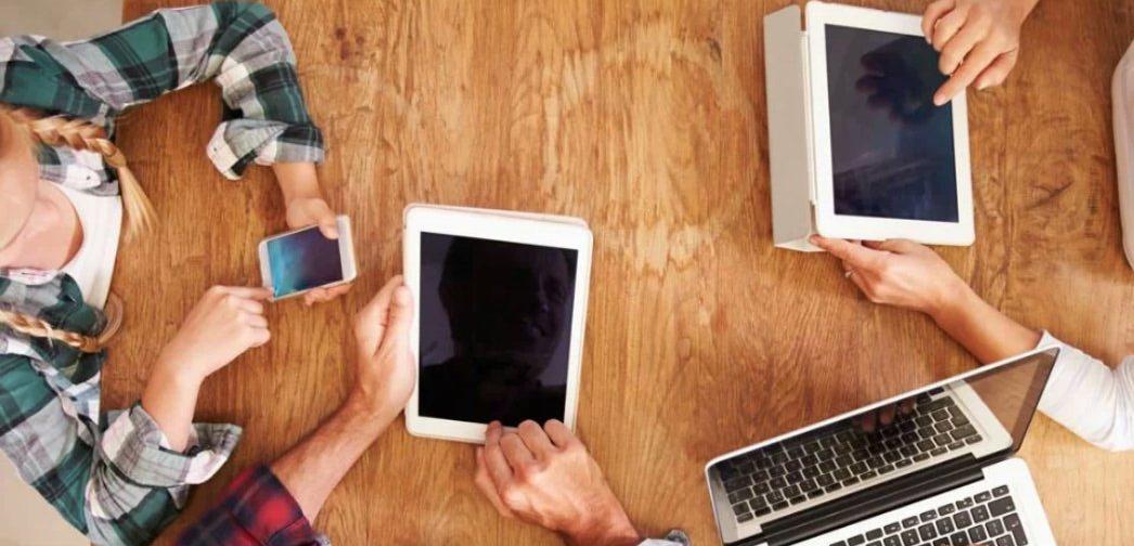 smartphone tablette et ordinateur portable
